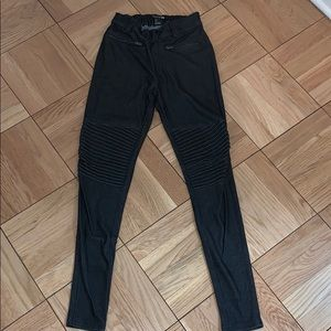 Grey part ribbed jeggings